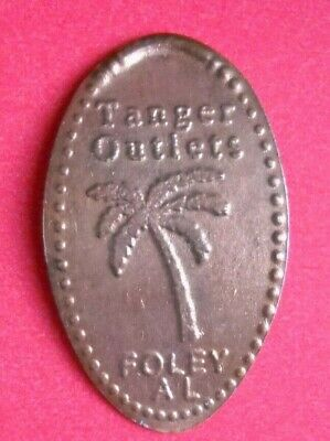 Tanger Outlets elongated penny Foley Alabama USA cent Palm Tree souvenir coin