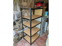 5 Tier Heavy Duty Metal Deep Garage Shelving Unit Storage Shelves Racking Black