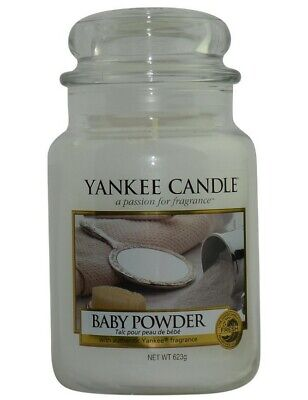 Yankee Candle BABY POWDER Large Jar 22 Oz New