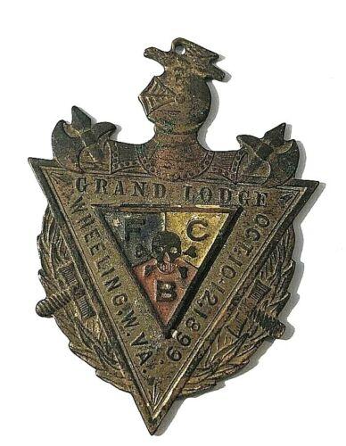VTG Oct. 10-12 1899 Knights of Pythias Lapel Pin Medal Grand Lodge Wheeling, WV