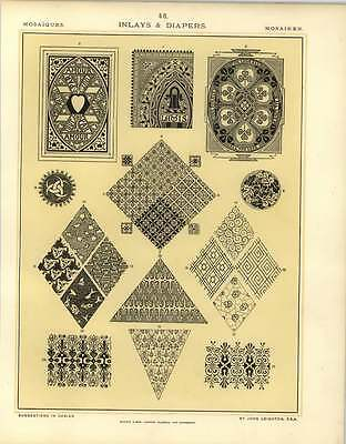 1880 Inlays And Diapers : Panel And Surface Decoration (Diaper Drawing)