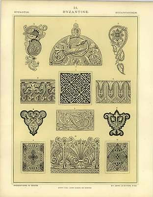 1880 Byzantine : Norman Anglo-saxon And Byzantine Ornaments