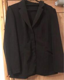 Women's Ladies Black Blazer Size M. Fits UK size: 10, 12