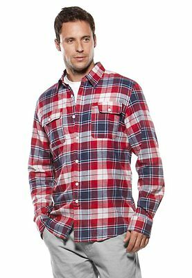 Greaser Boys (Men's Boys Oakley Greaser Woven L/S Flannel Shirt Grey Blue Black Small)