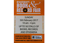 Stockport Book & Record Fair, Sunday 5th February 2017