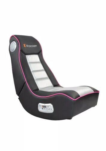 Gaming Chair for Girls Pink xRocker Floor Seat Speakers Girl