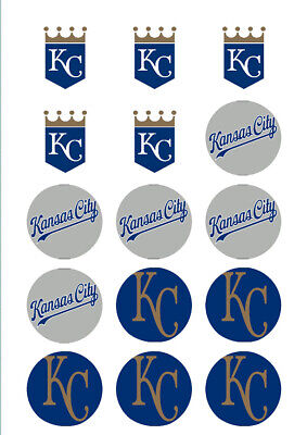 Kansas City Royals Edible Print Cupcake/Cookie Toppers Frosting Sheets 2 - Cupcake City