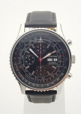 Aviation automatic chronograph watch Valjoux 7750 movement clone new orig. box for sale  Shipping to Canada