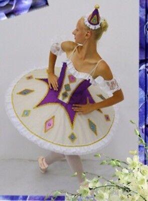Professional Harlequinade Purple Nutcracker YAGP Ballet Tutu Hooped Costume MTO