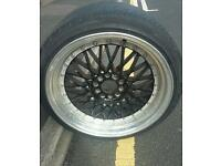 BBS RS style 9.5j wide alloys 19 inch