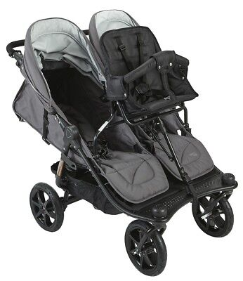 Valco Baby Tri Mode Twin Stroller - Valco 2019 TriMode Twin-X Duo Double Stroller in Dove Grey With Toddler Seat!!!