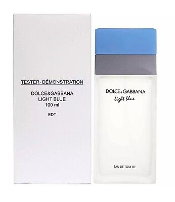 DOLCE GABBANA LIGHT BLUE 3.3 oz D&G WOMEN EDT 100ML 3.4 TESTER NEW IN BOX W CAP