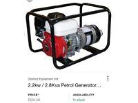 Honda GX200 6.5hp /2.2kW Generator Like New