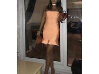 Neon Orange Bandage Bodycon Dress