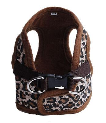 Dog Puppy Soft Harness Vest - Leopard Brown Print - Small Breeds - S, M, L, XL