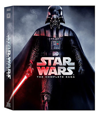 New Star Wars:The Complete Saga DVD (I,II,III,IV, V, VI, 12-Disc Box Set 1-6)