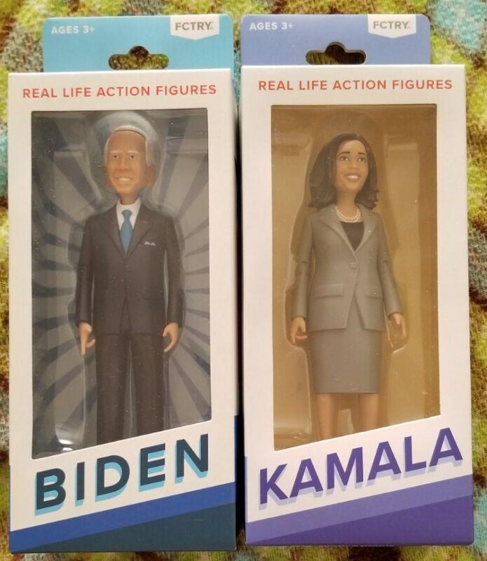 Fctry Figure Lot of 2: Joe Biden and Kamala Harris