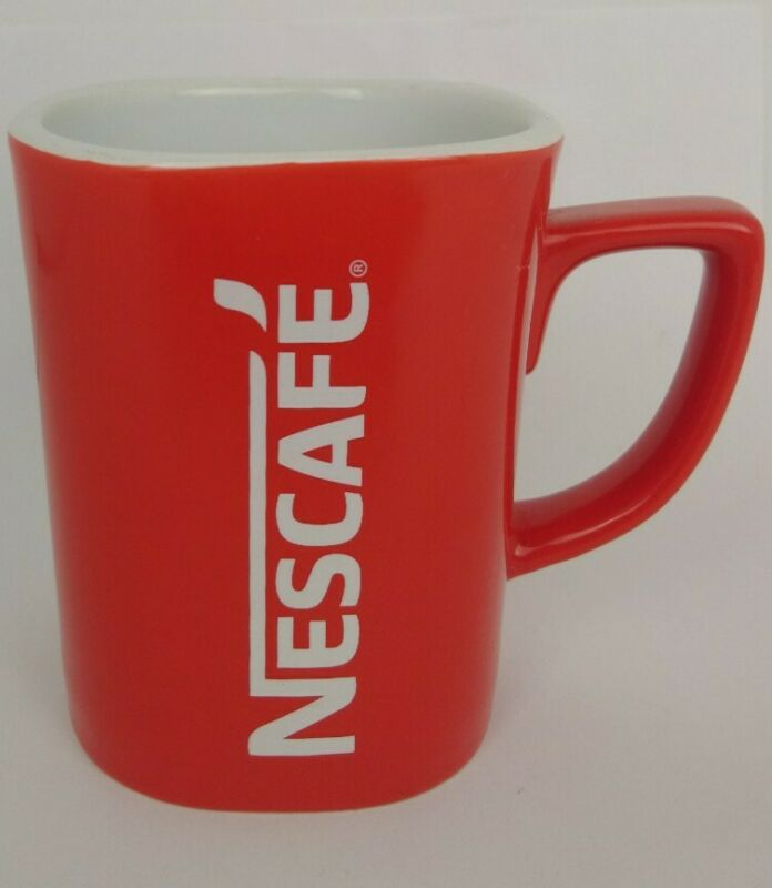Vintage Nestle Nescafe Red Coffee Mug 12 Oz Retro Logo Tea Cup 505-0244