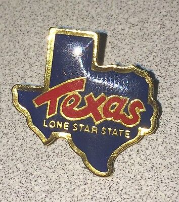 TEXAS ~ Lone Star State Lapel Hat Souvenir Pin