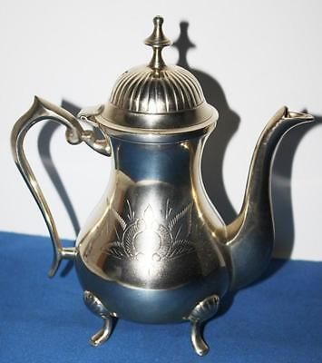 Vintage Moroccan Engraved Silver Alloy Teapot - FREE Postage [PL1514]