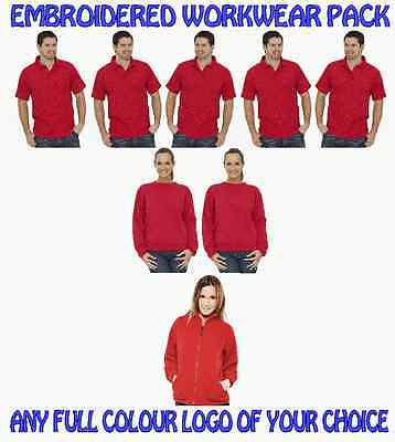 5 Poloshirts. 2 Sweatshirts 1 Fleece Jacket. ALL WITH YOUR PERSONALISED LOGO!