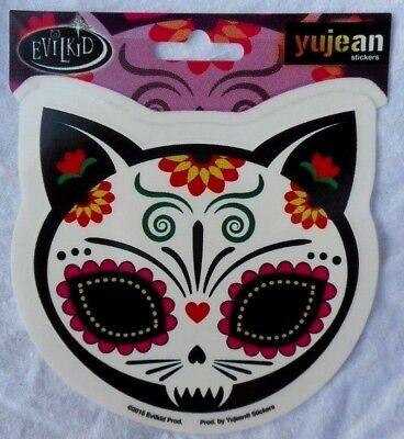 Dia De Los Muertos Cat ( Day Of The Dead Sticker Dia De Los Muertos Gato Cat 4