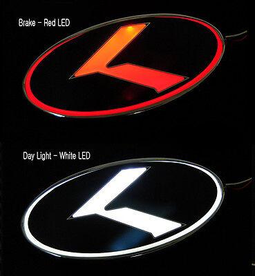 Hood Trunk (Front & Rear) K Logo 2Way LED Emblem For 2012~ 2015+ Kia Rio Sedan