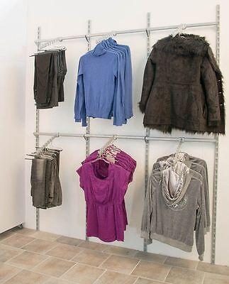 Rondy Wandsystem Kleiderständer Trägerstangen Abhänger Ladeneinrichtung Rückwand