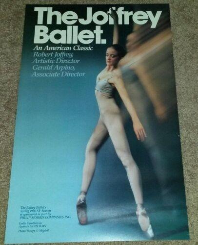 "JOFFREY BALLET POSTER : Leslie Carothers in ""Light Rain"" (1986)"