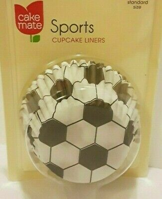 Cheap Soccer Balls In Bulk (Cake Mate SPORTS Baking Cupcake Liners SOCCER BALL 50 Ct (2) Made In USA *NEW)