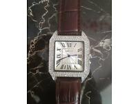 Cartier Diamond Watch men's (not Rolex,hublot,gucci,iPhone,omega)