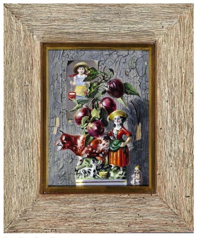 Aaron Bohrod (1907-1992) Chicago Modernist Original Oil on Panel Trompe L
