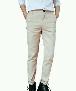 Pantalone-uomo-tessuto-beige-leggero