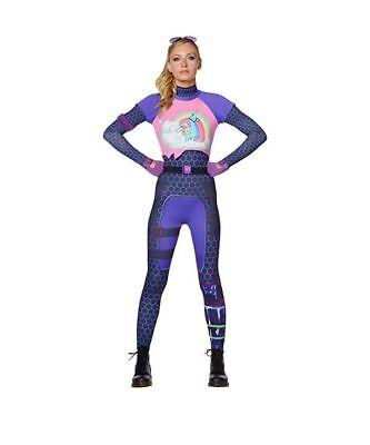 Authentic Halloween Costume (Fortnite BRITE BOMBER Adult HALLOWEEN COSTUME Women TEEN 0-2 Bright)