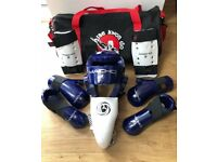 Kids Teakwondo Sparring Gear Size Medium (Age 7-10) in Blue
