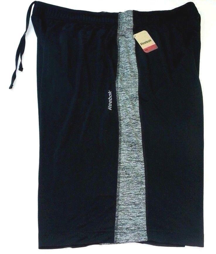 Reebok Sport Men's Big & Tall Active Shorts 2XL Black Grey R
