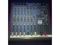 Allen & Heath Zed Sixty 10fx Mixer in working condition.