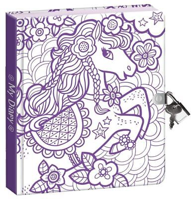 Best Secret Diary For Girls Kids With Lock And Key Pretty Pony Journal Notebook - Journals For Girls