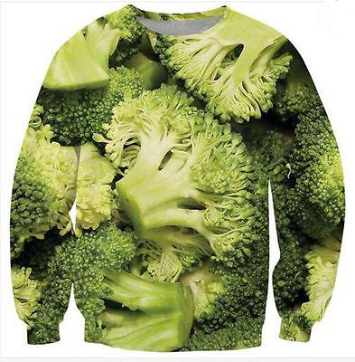 Women/Men broccoli bunches 3D print Sweatshirts Hoodies pullover plus size R-5