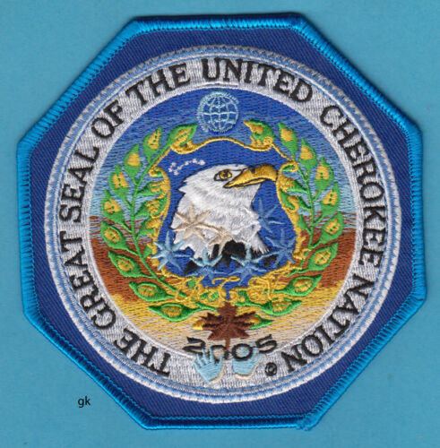 THE GREAT SEAL OF THE UNITED CHEROKEE NATION TRIBAL EAGLE SHOULDER PATCH 2005
