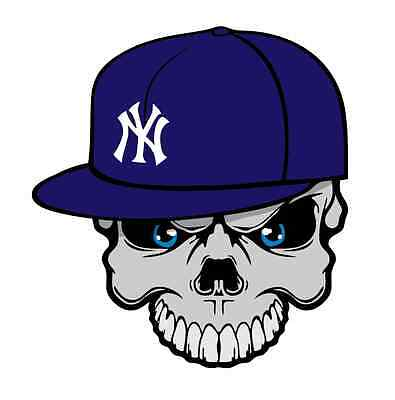 Yankee Scull iPhone Cover iPad Laptop Sticker Decal Vinyl Graphic 2.25X2.5