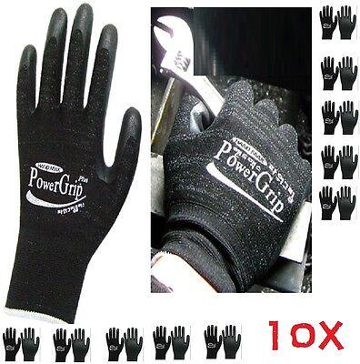 10X Handmax Nitrile Foam Palm Coat Mechanic Industry Nonslip WorkGloves Medium