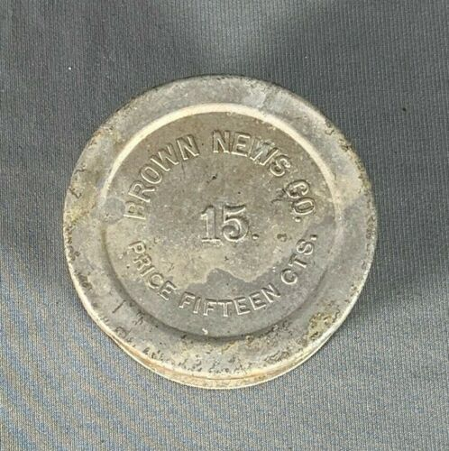 Vtg Brown News Company Folding Metal Cup