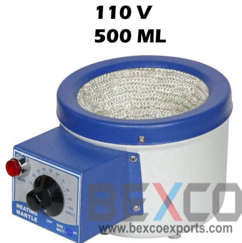 110V Heating Mantle 500 mL for Round Bottom Flask