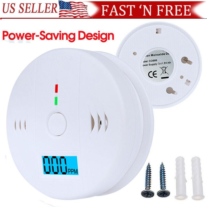 CO Carbon Monoxide Detector Wireless Security Sensor Voice Alert Loud Alarm Home