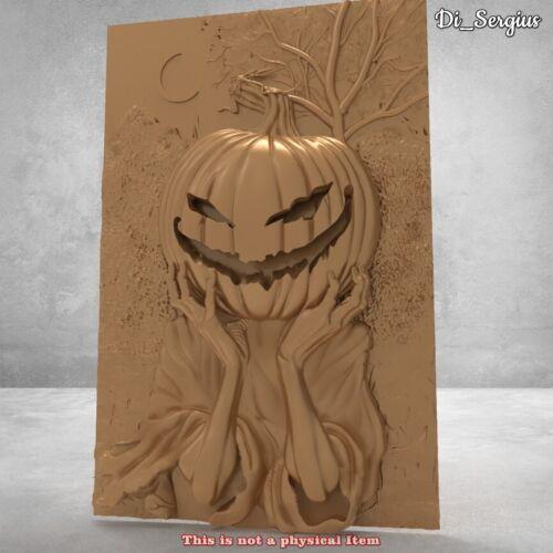 3D STL Model Funny halloween pumpkin for CNC Router Artcam Aspire  3D printer