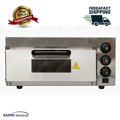 Used, Commercial 2000W Electric Pizza Baking Oven Cake Bread With Timer Thermosat for sale  Shipping to Nigeria