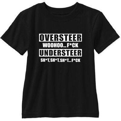 Oversteer vs Understeer T Shirt Racing JDM Drifting Grand Tour Top Gear Crash