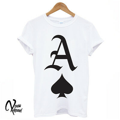 Youth Graphic T-shirt (ACE OF SPADES PRINTED GRAPHIC T SHIRT STREET SWAG HIPSTER TUMBLR TEE YOUTH DOPE)