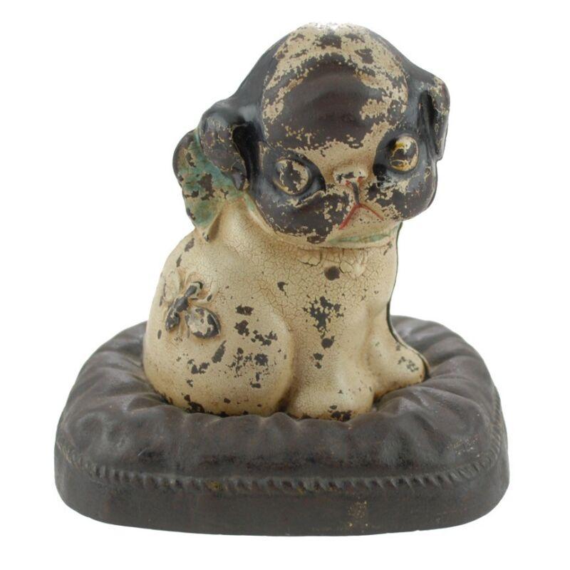 Hubley Grace Drayton Puppo Boston Terrier Iron Bank Signed